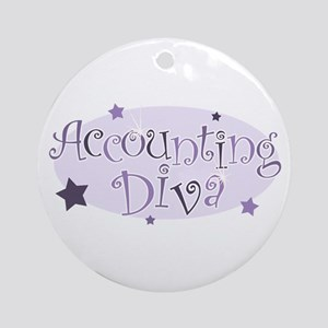 Accounting Diva [purple] Ornament (Round)